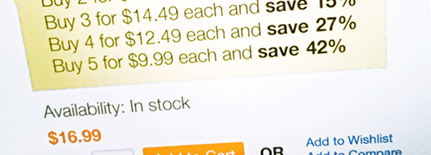 Magento tiered pricing