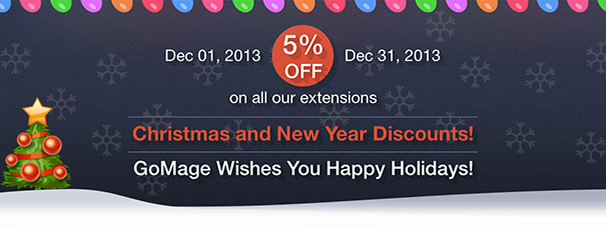 Christmas and New Year Discounts 5%!