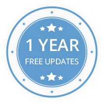 Free updates for a 1-year