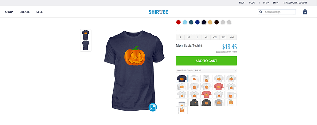 Shirtee products