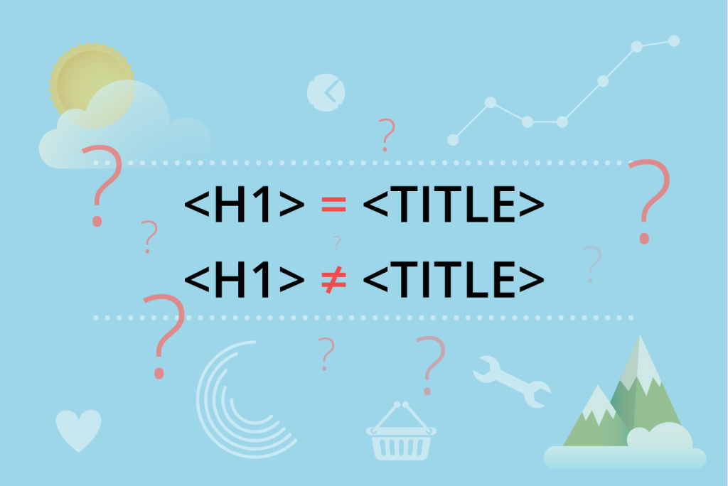 H1 Header vs TITLE. Should they be identical or not?