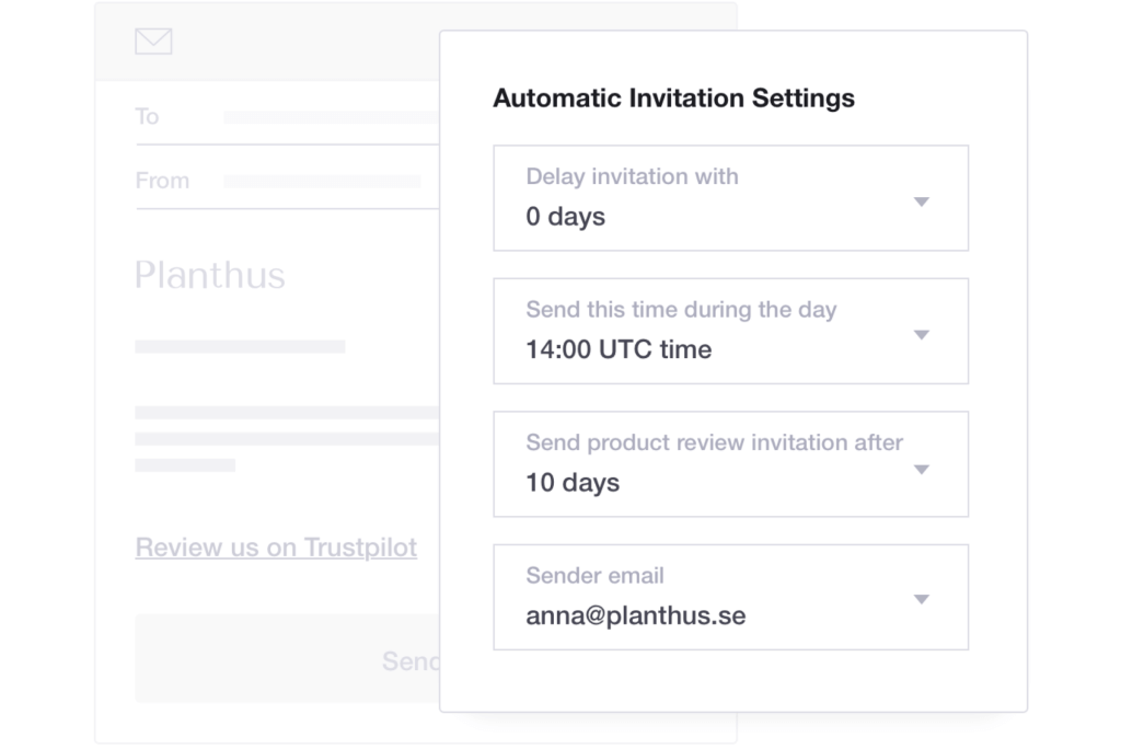 Get Customer Reviews with Automated Invites