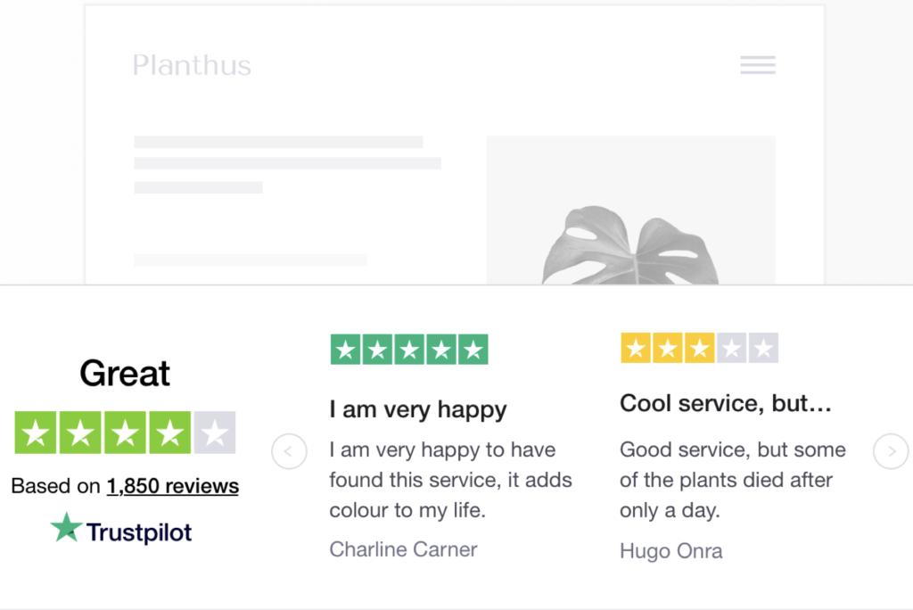 How to Get Customer Reviews: Trustpilot Trust Widget
