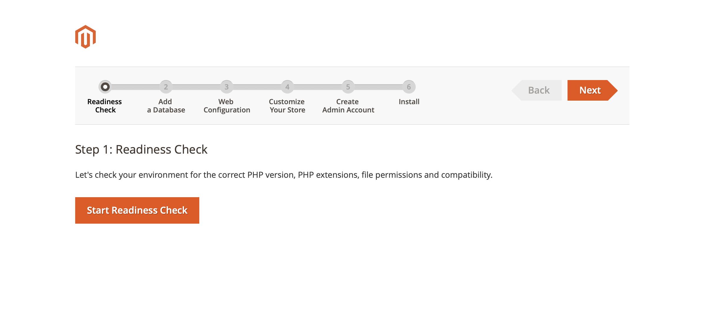 Magento Installation: Readiness Check