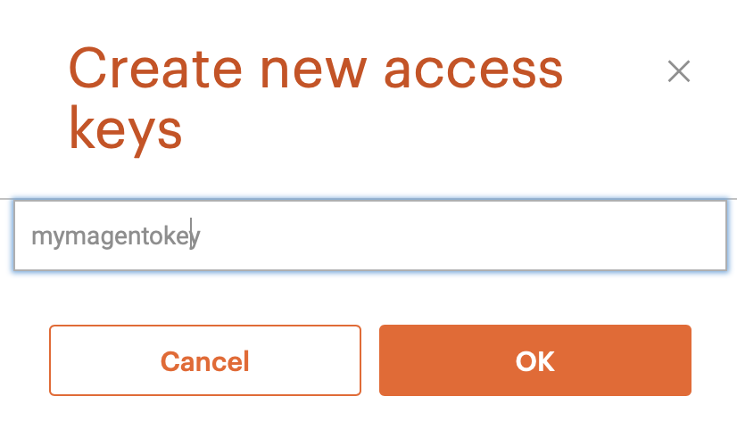 Magento Marketplace - Create and Name a New Access Key