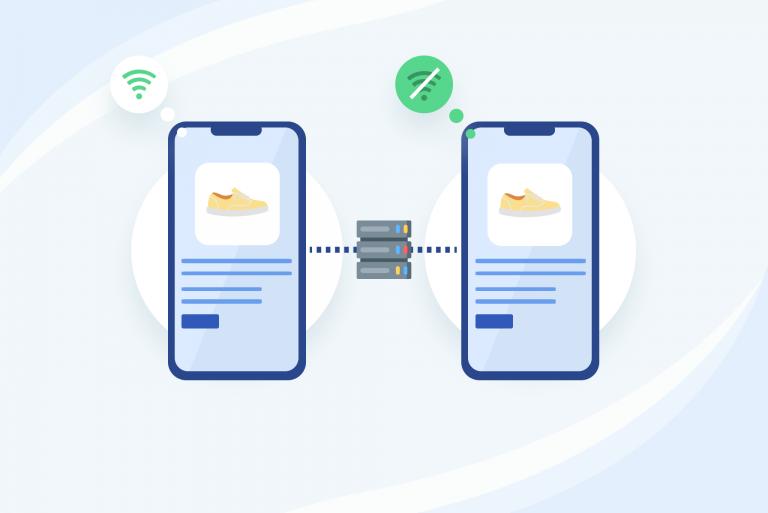 PWA works offline unlike mobile-responsive websites
