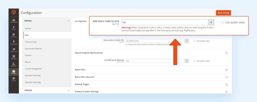 How to configure Magento SEO URL in admin panel