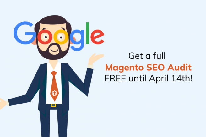 Man offering a free Magento SEO audit