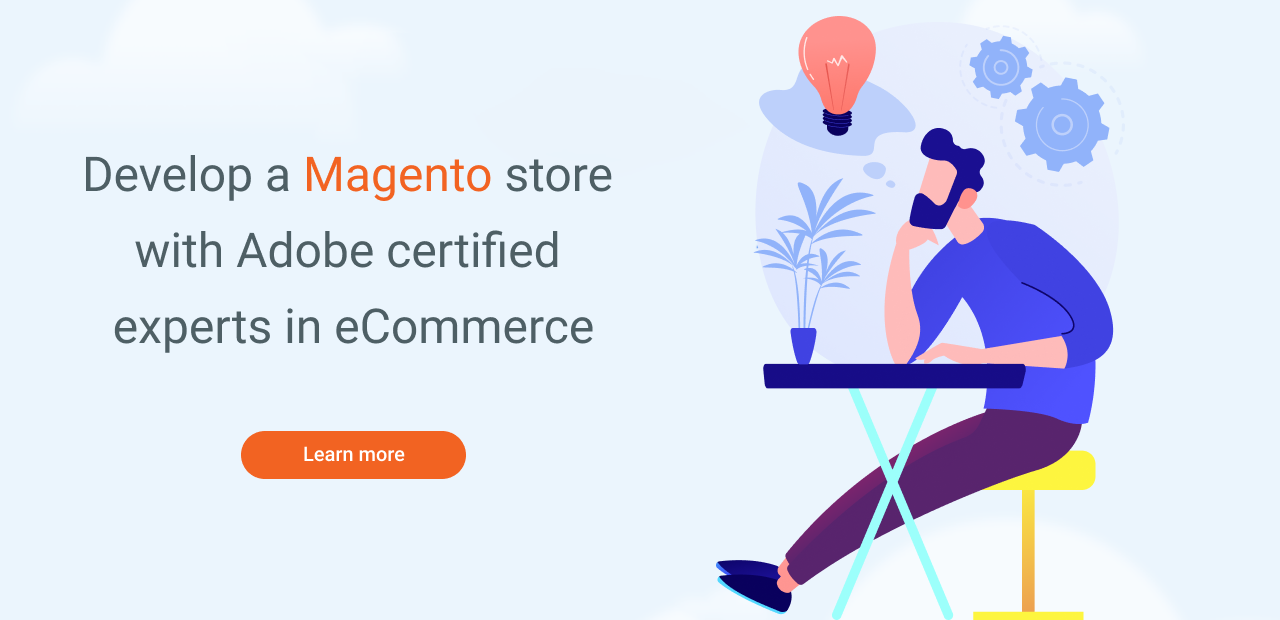 Man thinking about Magento development services