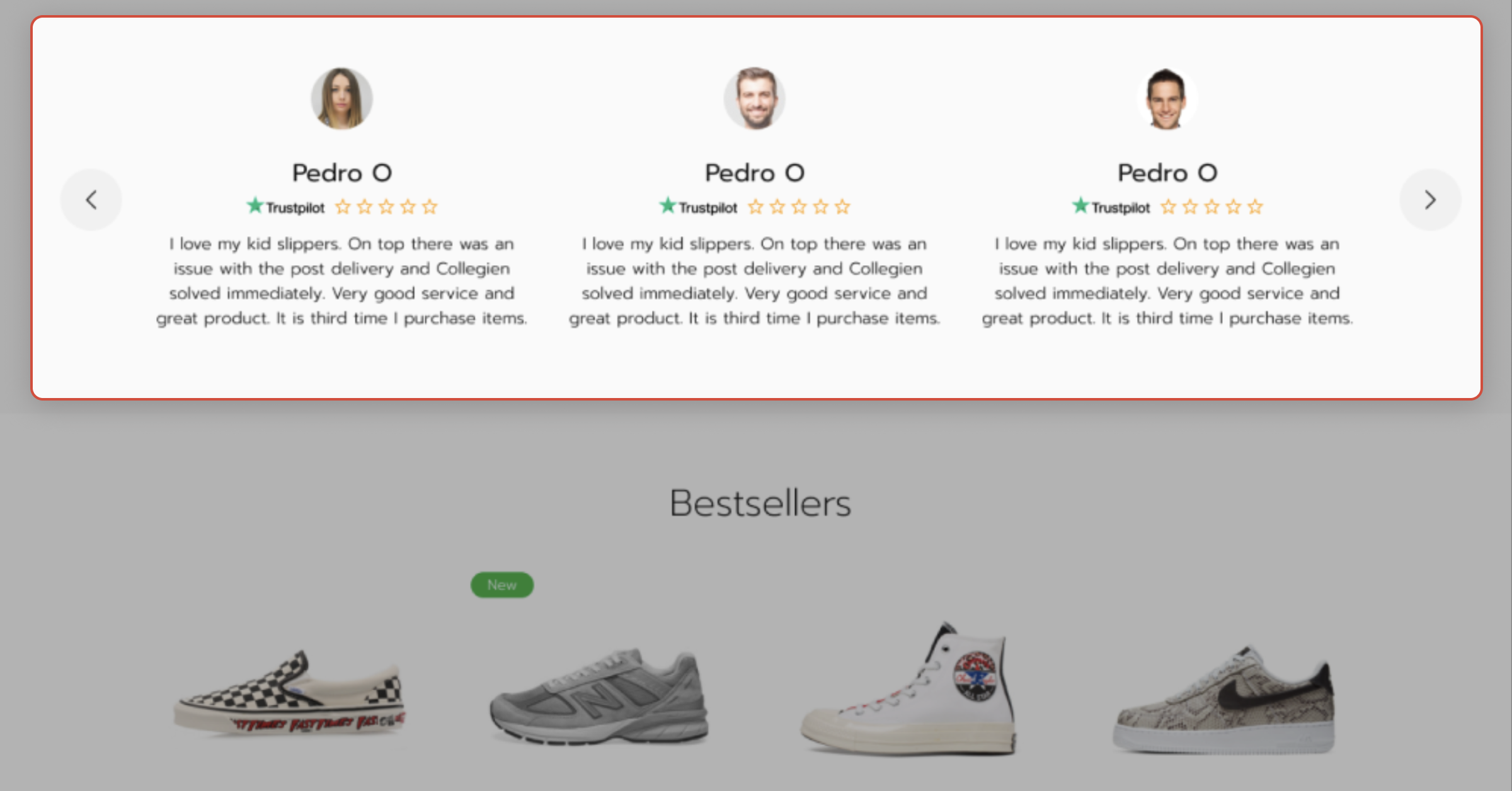 Product reviews on the GoMage PWA Storefront implemented with Trustpilot